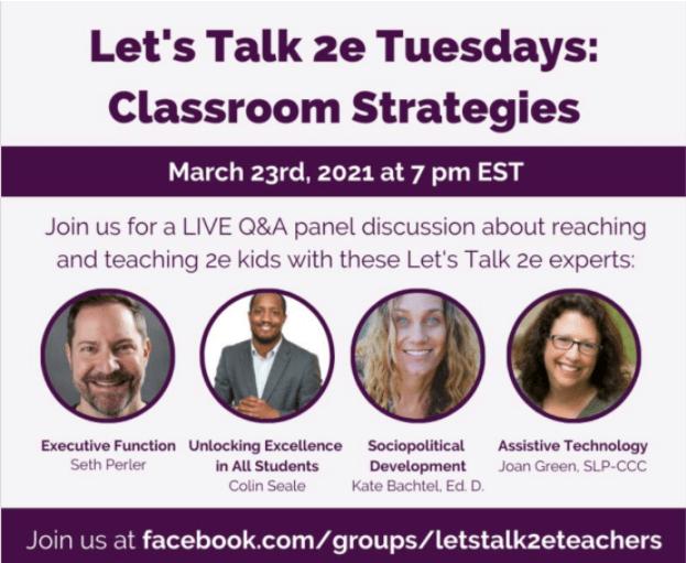 LET'S TALK 2E! Online Conference for EDUCATORS